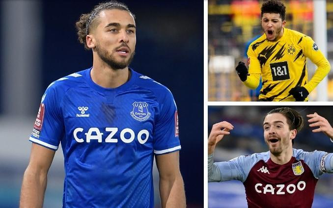 Dominic Calvert-Lewin (left), Jadon Sancho (top right) and Jack Grealish (bottom right) would all be available - GETTY IMAGES / REUTERS