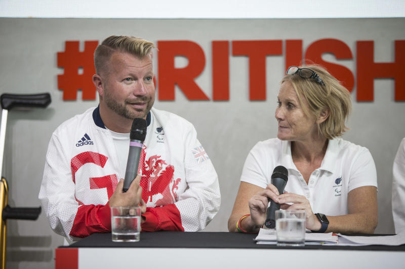 Penny Briscoe (right) will lead the British Paralympic team for the fourth time at Tokyo 2020.