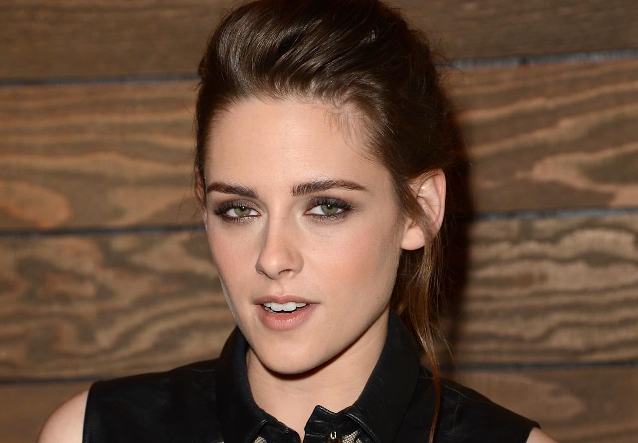 """LOS ANGELES, CA - DECEMBER 06:  Actress Kristen Stewart attends a special screening of """"On The Road"""" at Sundance Cinema on December 6, 2012 in Los Angeles, California.  (Photo by Jason Merritt/Getty Images)"""