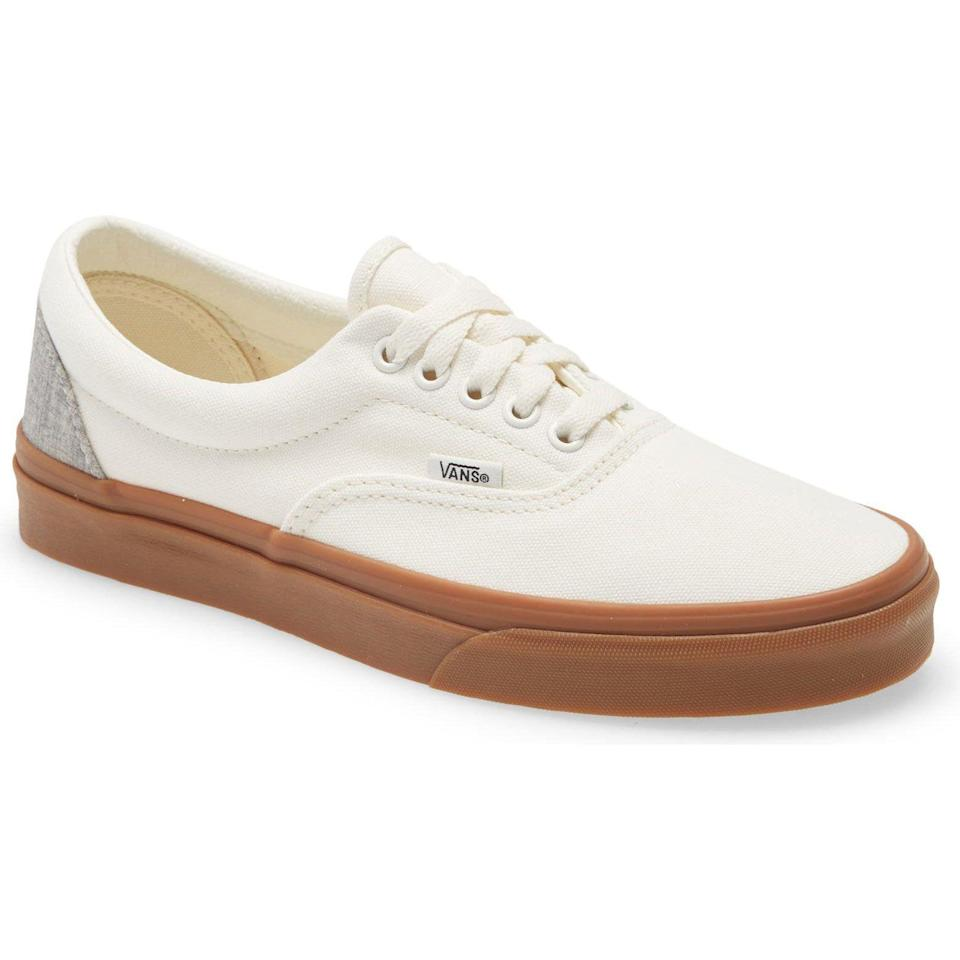 """<p><strong>Vans</strong></p><p>nordstrom.com</p><p><a href=""""https://go.redirectingat.com?id=74968X1596630&url=https%3A%2F%2Fwww.nordstrom.com%2Fs%2Fvans-era-sneaker-unisex%2F5885331&sref=https%3A%2F%2Fwww.esquire.com%2Fstyle%2Fmens-fashion%2Fg37002225%2Fnordstrom-anniversary-sale-mens-fashion-deals-2021%2F"""" rel=""""nofollow noopener"""" target=""""_blank"""" data-ylk=""""slk:Shop Now"""" class=""""link rapid-noclick-resp"""">Shop Now</a></p><p><strong>Sale: $34.90</strong></p><p><strong>After Sale: $54.95</strong></p><p>The knockaround shoes you know you need.</p>"""