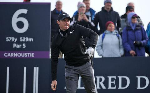 <span>It was another difficult round for Rory McIlroy</span> <span>Credit: pa </span>