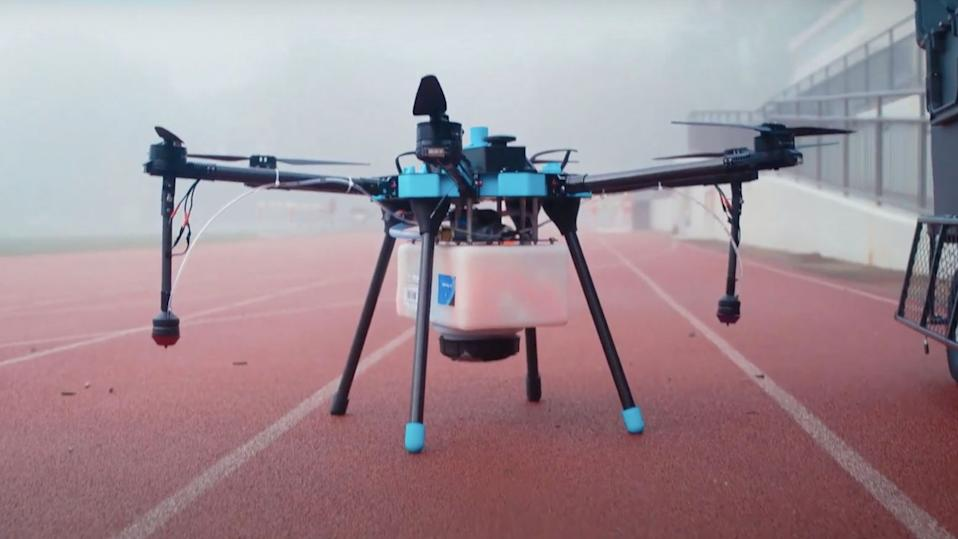 Drones can now be used to disinfect stadiums and other large areas