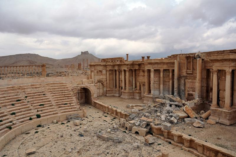 The Roman amphitheatre in the ancient city of Palmyra in central Syria is one of the sites ransacked by the Islamic State group