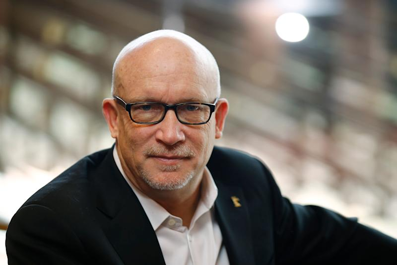"FILE - In this Feb. 17, 2016 file photo, Alex Gibney, director of the fIlm ""Zero Days"" poses for a photo at the 2016 Berlinale Film Festival in Berlin, Germany. Oscar-winning filmmaker Gibney has premiered his latest documentary on the fraudulent tech startup Theranos at the Sundance Film Festival Thursday night, Jan. 24, 2019. ""The Inventor: Out for Blood In Silicon Valley"" is among a handful of films that kicked off the annual independent festival. (AP Photo/Axel Schmidt, File)"