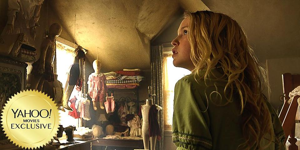 """<p>Normally, the prequel to a horror spinoff wouldn't exactly grab us by the throats, but this follow-up to the 2014 hit about a demonic doll (which launched from <a rel=""""nofollow"""" href=""""https://www.yahoo.com/movies/film/the-conjuring"""" data-ylk=""""slk:The Conjuring"""" class=""""link rapid-noclick-resp""""><em>The Conjuring</em></a>) has a key asset: Swedish director David F. Sandberg, who made his feature debut with last year's slick and scary sleeper <a rel=""""nofollow"""" href=""""https://www.yahoo.com/movies/film/lights-out"""" data-ylk=""""slk:Lights Out"""" class=""""link rapid-noclick-resp""""><em>Lights Out</em></a>. 