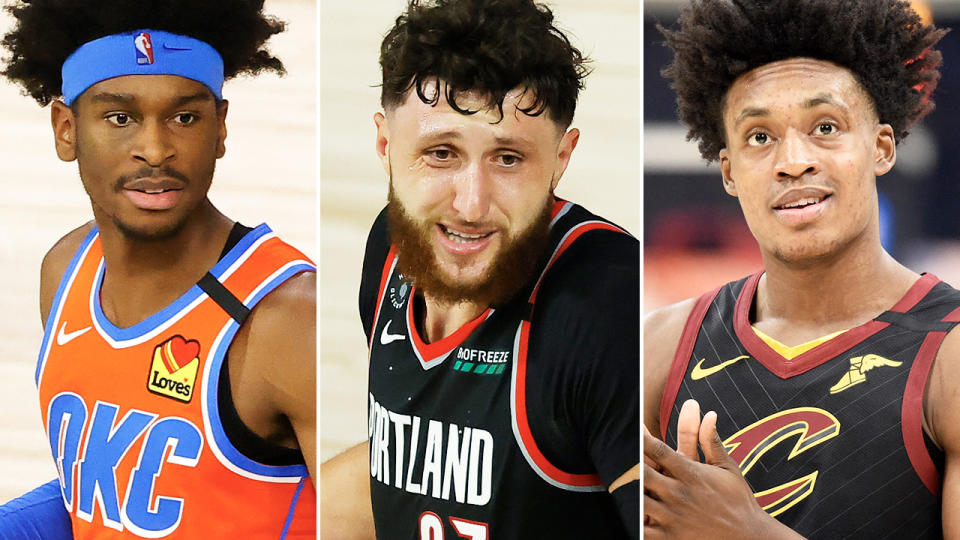Shai Gilgeous-Alexander, Jusuf Nurkic and Collin Sexton, pictured here in action in the NBA.