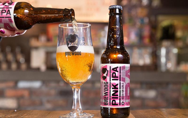 The Pink IPA was released as part of a 'satirical' campaign against the gender pay gap - Publicity Picture