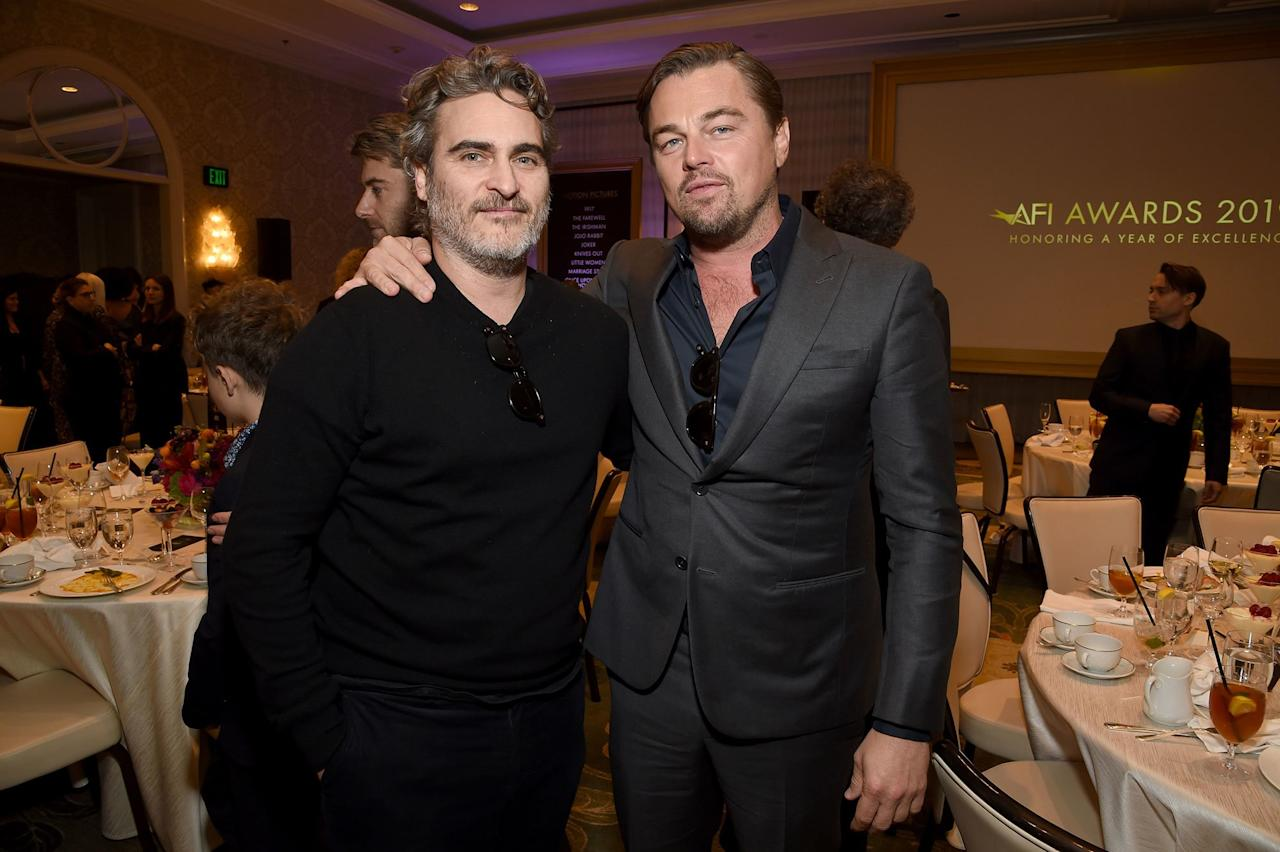Joaquin Phoenix and Leonardo DiCaprio attended the 20th Annual AFI Awards in Beverly Hills.