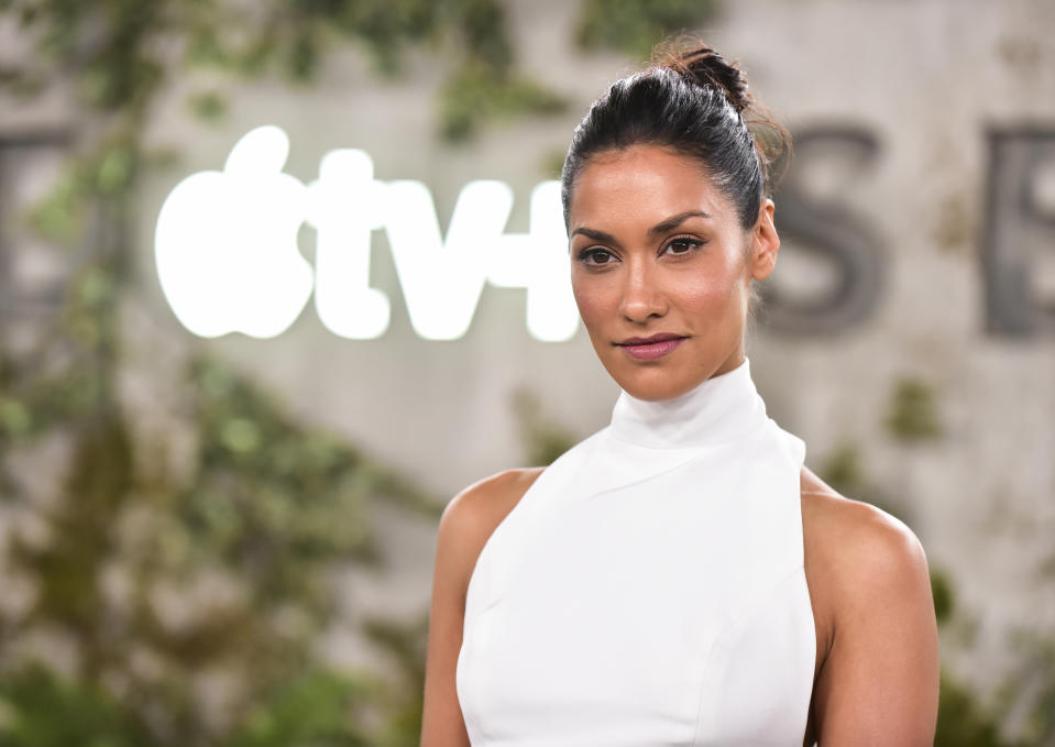 Janina Gavankar is defending pal Meghan Markle over claims that her Christmas card was digitally altered. (Photo: Rodin Eckenroth/FilmMagic)