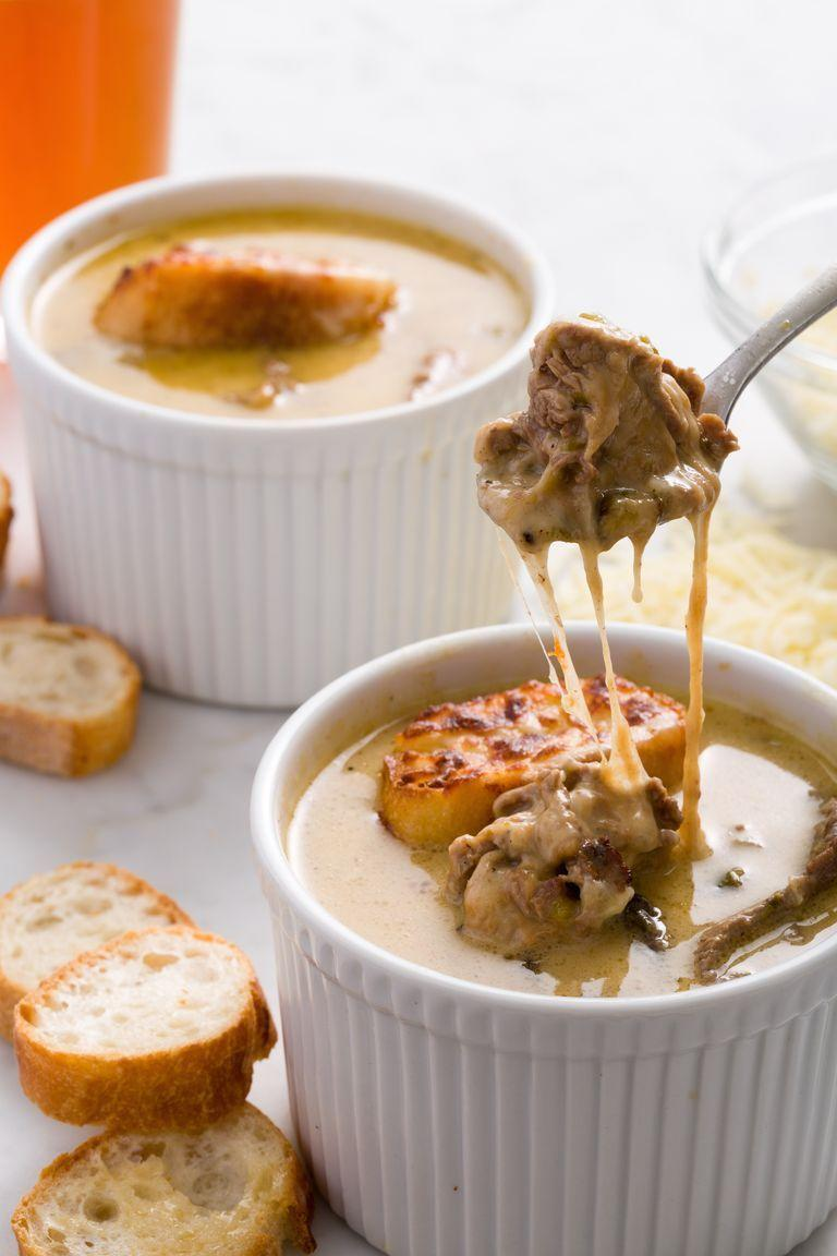 """<p>Soup and a sandwich is a classic combo, but what about turning a sandwich <em>into</em> soup? This soup takes all your favorite flavors from this classic Philly sandwich and turns them into your new go-to soup. </p><p><strong><em>Get the recipe at <a href=""""https://www.delish.com/cooking/recipe-ideas/recipes/a44746/philly-cheesesteak-soup-recipe/"""" rel=""""nofollow noopener"""" target=""""_blank"""" data-ylk=""""slk:Delish"""" class=""""link rapid-noclick-resp"""">Delish</a>. </em></strong></p>"""