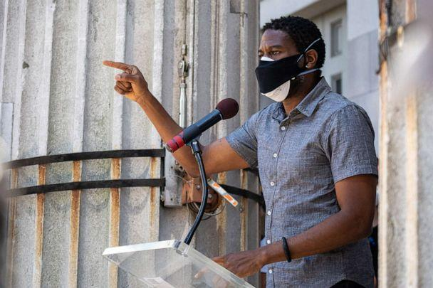 PHOTO: New York City Public Advocate Jumaane Williams speaks at a protest for police reform at the steps of borough hall on June 8, 2020, in New York. (David Dee Delgado/Getty Images, FILE)