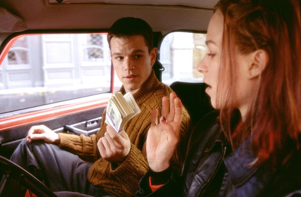 "At some point, most young couples have to deal with someone in the relationship needing to ""figure out who they are,"" but Matt Damon's Jason Bourne and Franka Potente's Marie in ""The Bourne Identity"" had to deal with that problem literally. The two spend the duration of the 2002 film on an adventure that takes them from Zurich to Paris to Greece on their way to finding his true identity as a spy and, you guessed it, true love. ©Universal/Courtesy Everett Collection"