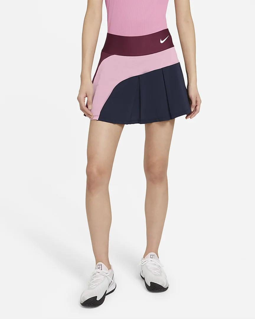 <p>If you're looking for some fun colorblocking, go with this <span>NikeCourt Advantage Tennis Skirt</span> ($65).</p>