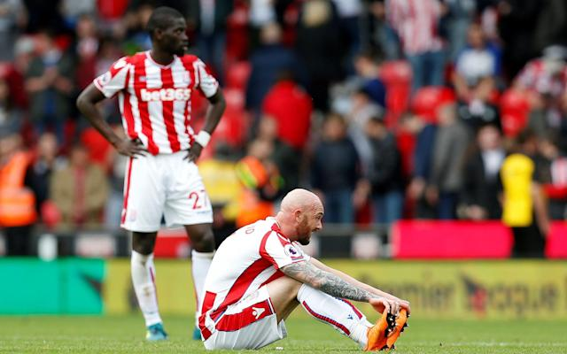 "Stoke City have cancelled their Player of the Year awards after a troubled season fighting against relegation to the Championship. With Stoke struggling in the bottom three, the club has taken the decision to abandon the annual black-tie event as they believe it would be ""inappropriate"". It is understood the decision was made earlier this month by Stoke's hierarchy and has been backed by manager Paul Lambert and his coaching staff. Stoke are four points adrift of safety with only three games left to extend their ten-year stay in the Premier League. Lambert's team face Champions League semi-finalists Liverpool on Saturday in search of their first victory since January 20. Ryan Shawcross, the captain, has insisted there remains hope of a miraculous escape. Paul Lambert reacts after the 1-1 draw with West Ham Credit: GETTY IMAGES ""If there are players that give up, they won't be playing. Football's a strange sport and it throws up these surprises so hopefully we can do one,"" he said. ""Liverpool have had a few upsets at Anfield so hopefully we can capitalise on them. Obviously they've got two massive games in the Champions League, we're sandwiched in between that so hopefully their focus is away from our game. ""We've got to win all three games. It's difficult but it's not mathematically impossible yet so we can on fighting and we carry on hoping to pick up those three points. It's going to be very hard but that's football, you never know what happens."""