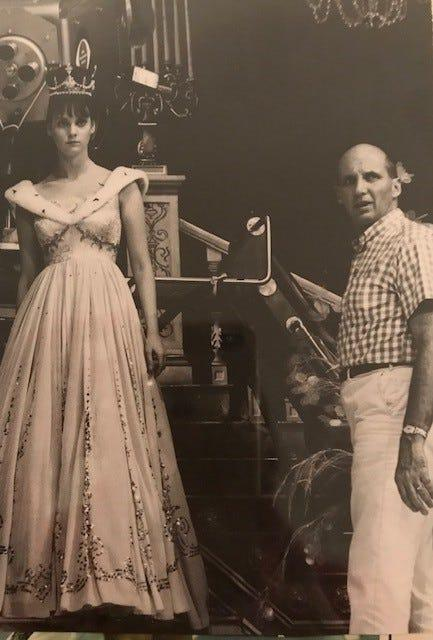 Charles S. Dubin with Lesley Ann Warren as Cinderella, around 1965, in New York City.