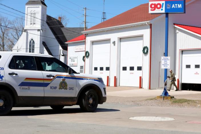 RCMP Command Post in Great Village after searching for Gabriel Wortman