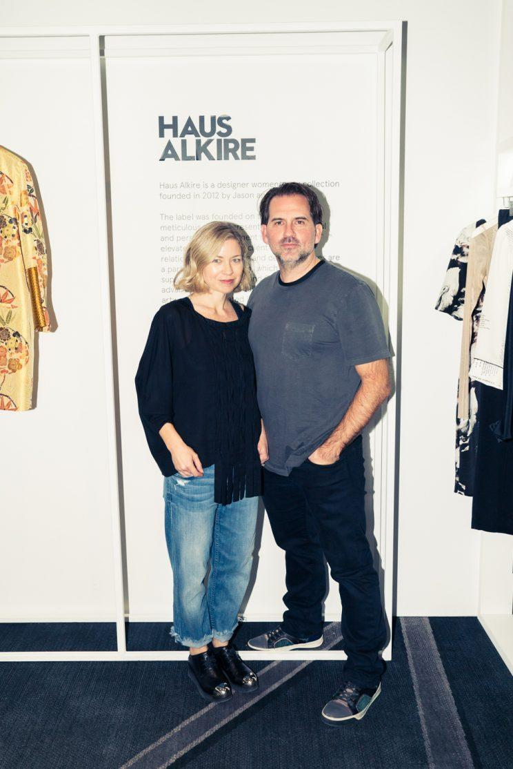 Julie and Jason Alkire of the label Haus Alkire. (Photo: Courtesy of CFDA + W Hotels)