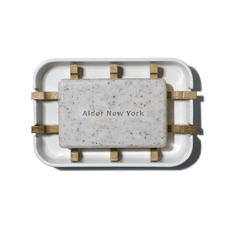 """<p>aldernewyork.com</p><p><strong>$12.99</strong></p><p><a href=""""https://go.redirectingat.com?id=74968X1596630&url=https%3A%2F%2Faldernewyork.com%2Fproducts%2Fsoap-dish%3Fsscid%3D41k5_5ed68&sref=https%3A%2F%2Fwww.townandcountrymag.com%2Fstyle%2Fbeauty-products%2Fg36041304%2Fbeauty-products-sustainable-reusable-packaging%2F"""" rel=""""nofollow noopener"""" target=""""_blank"""" data-ylk=""""slk:Shop Now"""" class=""""link rapid-noclick-resp"""">Shop Now</a></p><p>The<a href=""""https://www.townandcountrymag.com/style/beauty-products/g31902304/best-soap-bars/"""" rel=""""nofollow noopener"""" target=""""_blank"""" data-ylk=""""slk:bar of soap"""" class=""""link rapid-noclick-resp""""> bar of soap </a>is making a comeback. Not only does a sudsy bar come with far less packaging, but Alder New York's version is replete with glycolic acid, jojoba oil, and sea kelp. Even better: it comes with a soap dish made of plant fibers so that it will biodegrade completely, too. </p>"""