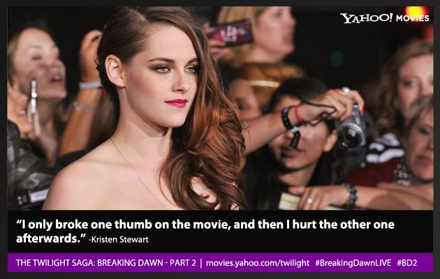 Visit movies.yahoo.com/twilight for more coverage of 'Breaking Dawn - Part 2'