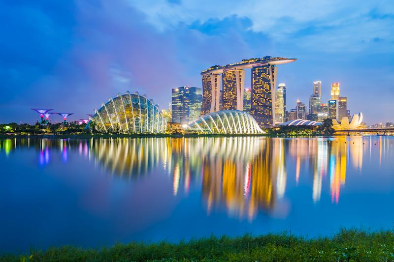 Singapore skyline cityscape at night. Photo: Getty