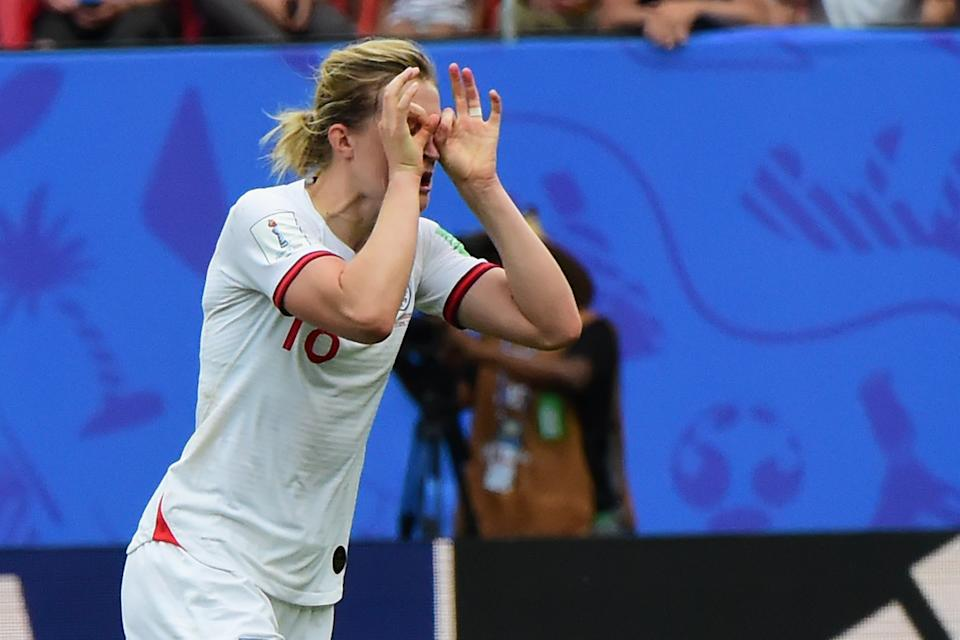 Ellen White scored England's second goal. (Credit: Getty Images)