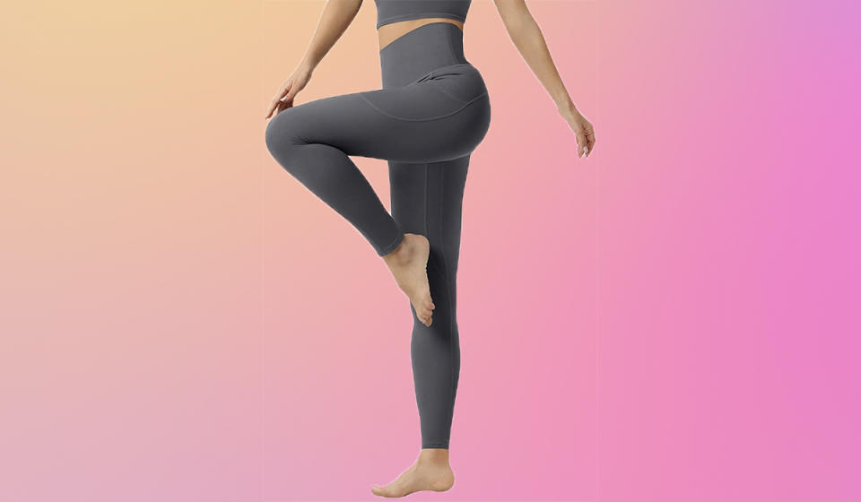 Whether you want to be the star of yoga class or just like standing around like an ibis, these leggings are for you! (Photo: Amazon)