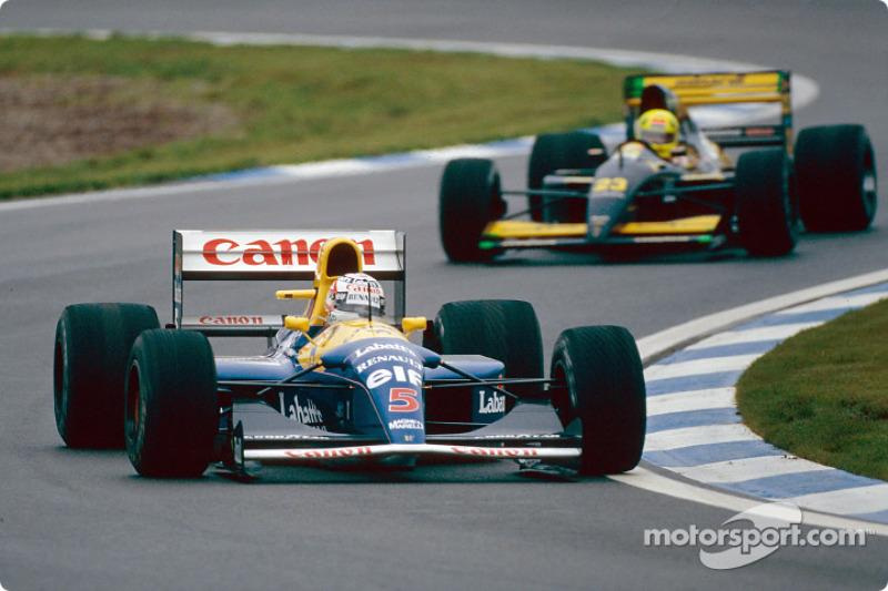 "1992: Nigel Mansell, Williams<span class=""copyright"">Renault </span>"