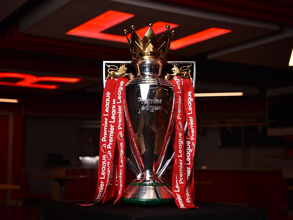 The Premier League trophy (Liverpool FC via Getty Images)