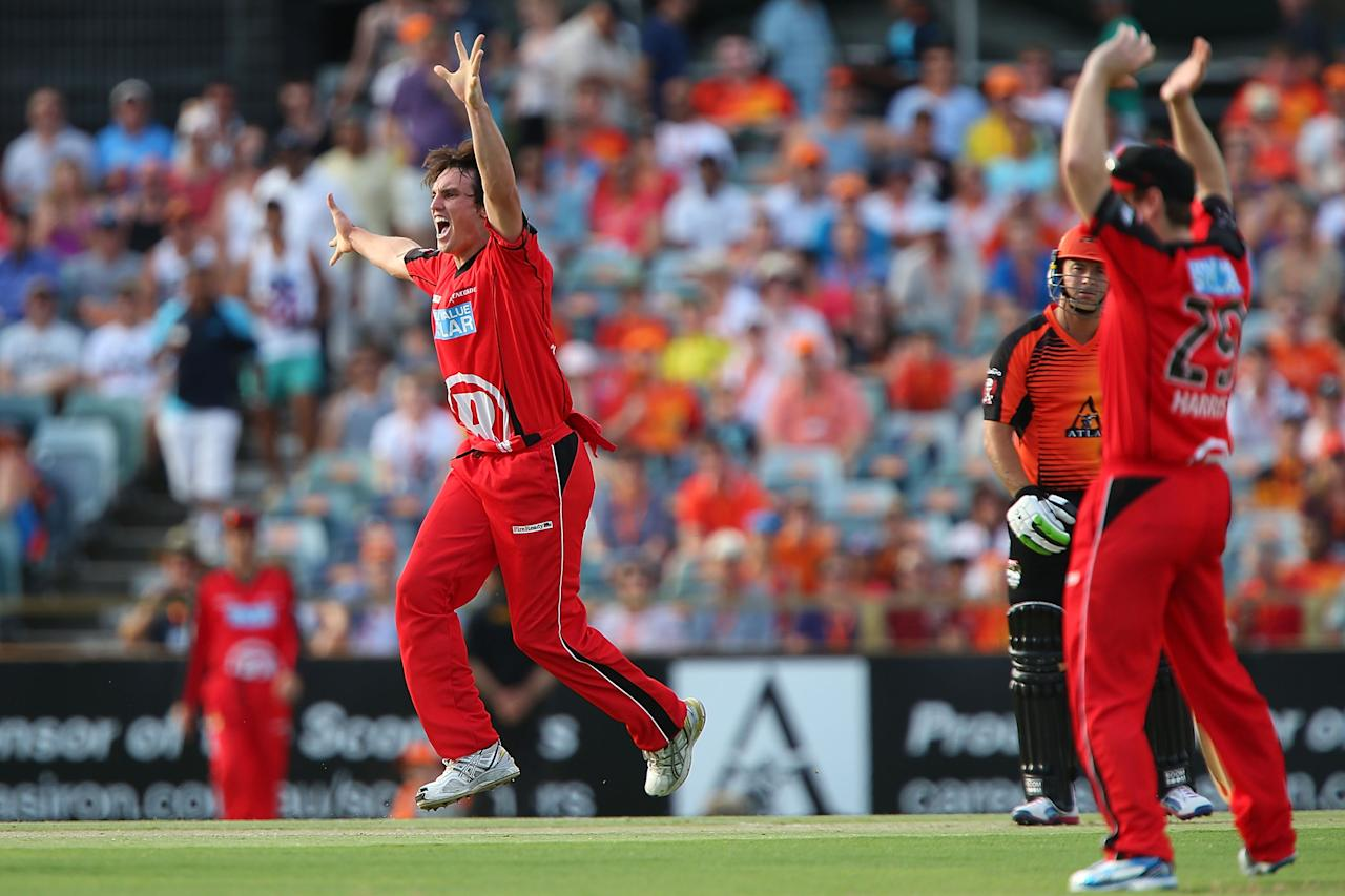 PERTH, AUSTRALIA - DECEMBER 29: Will Sheridan of the Renegades appeals unsuccessfuly for the wicket of Herschelle Gibbs of the Scorchers during the Big Bash League match between the Perth Scorchers and the Melbourne Renegads at WACA on December 29, 2012 in Perth, Australia.  (Photo by Paul Kane/Getty Images)