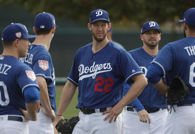 Clayton Kershaw needs more time to recover from an arm issue. (AP Photo/Morry Gash)