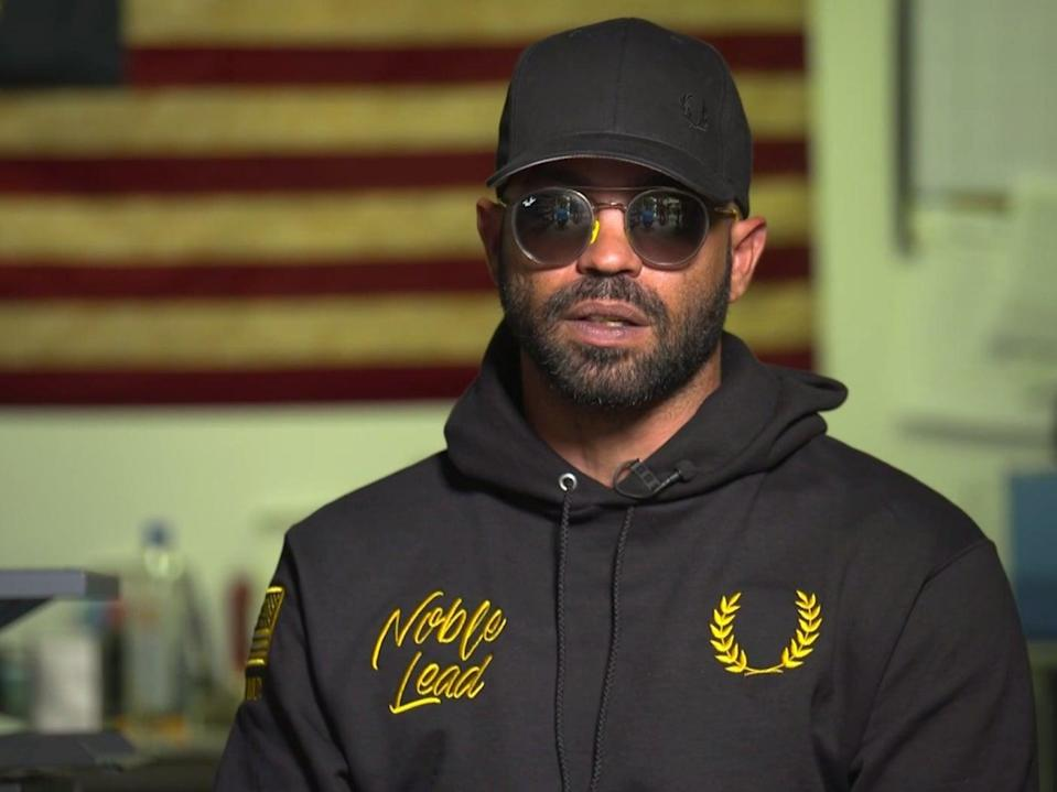 <p>Enrique Tarrio, leader of the far-right Proud Boys group, in an interview with CNN</p> (CNN)