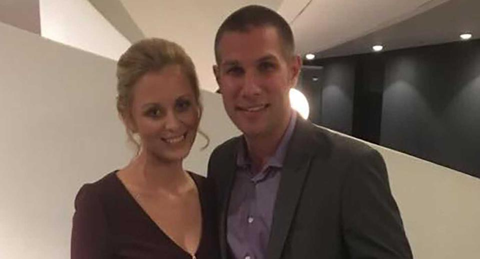 Andy Jones, 37, pictured with his wife Rhianne.