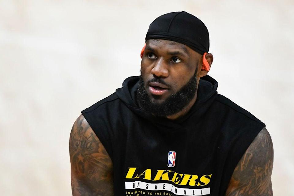 <p>LeBron James has hit out at Zlatan Ibrahimovic for his comments</p> (Getty)