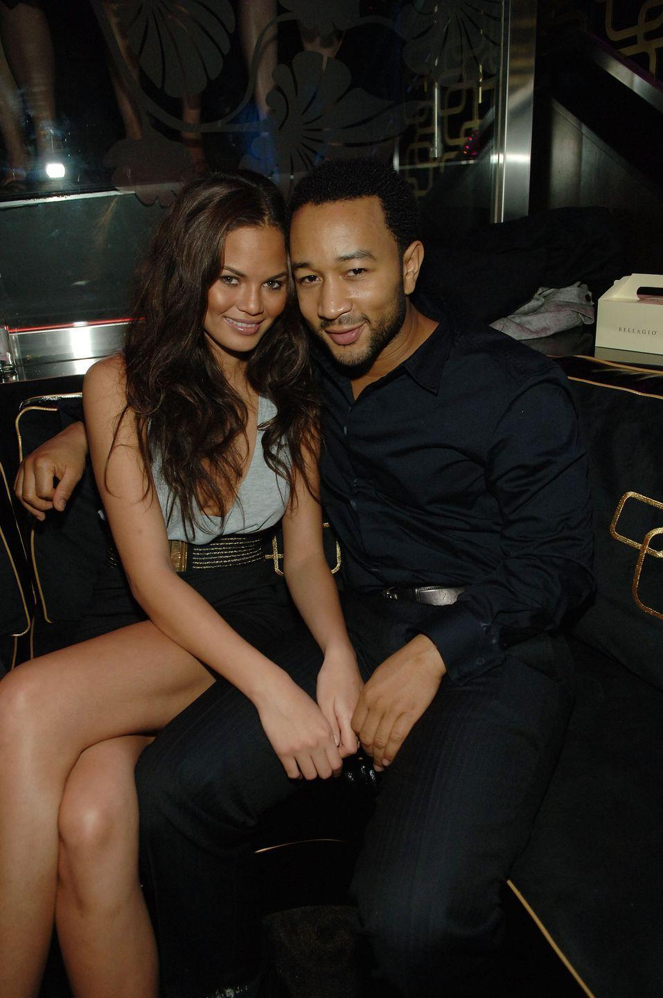 <p>The singer's then girlfriend helped him celebrate his 29th birthday in Las Vegas.</p>