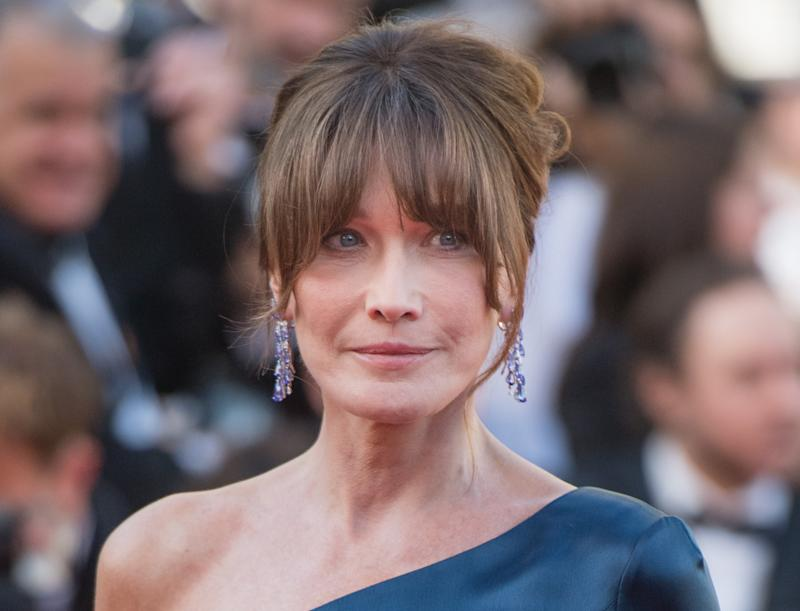 "CANNES, FRANCE - MAY 15: Carla Bruni attends the screening of ""Les Miserables"" during the 72nd annual Cannes Film Festival on May 15, 2019 in Cannes, France. (Photo by Samir Hussein/WireImage)"