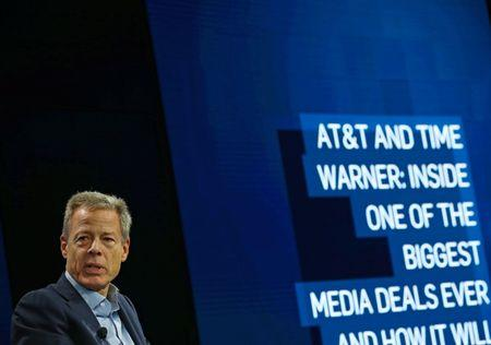 Time Warner Inc CEO Jeff Bewkes discuss his companies proposed merger with AT&T at the WSJD Live conference in Laguna Beach, California, U.S., October 25, 2016.     REUTERS/Mike Blake