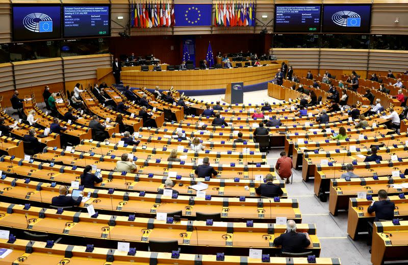 FILE PHOTO: Extraordinary plenary session of the EU Parliament in Brussels
