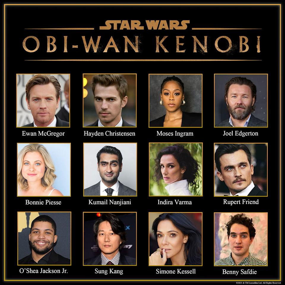 'Star Wars: Obi-Wan Kenobi' cast for Disney+