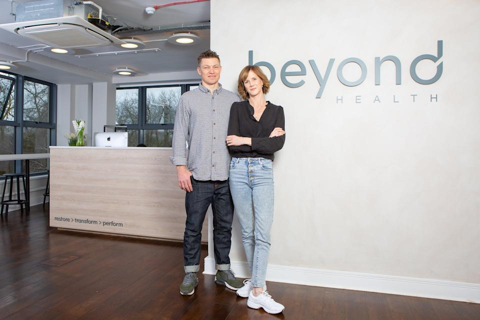 Joseph and Carrie Lawrence in their Parsons Green clinic (Beyond Health)