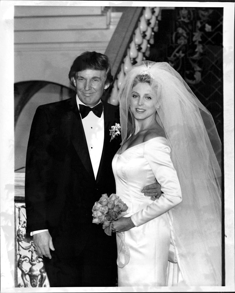Donald Trump marries Marla Maples in December 1993.