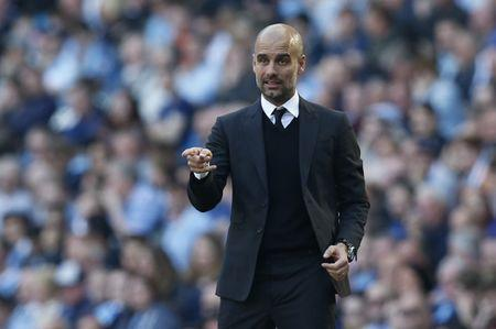 Britain Football Soccer - Manchester City v Hull City - Premier League - Etihad Stadium - 8/4/17 Manchester City manager Pep Guardiola. Reuters / Andrew Yates Livepic