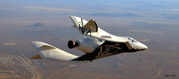 SpaceShipTwo undertook its 23rd glide flight on Dec. 19 in the pre-powered portion of its incremental test flight program. This was a significant flight as it was the first with rocket motor components installed, including tanks. It was also th