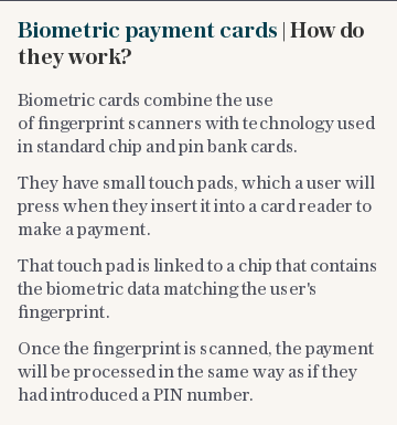 Biometric payment cards | How do they work?