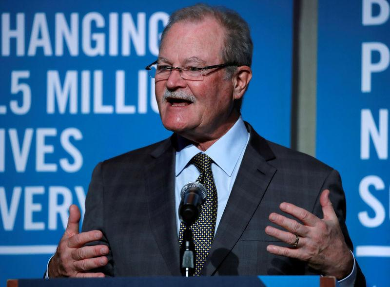 FILE PHOTO: Brian Duperreault, President and Chief Executive Officer (CEO) of American International Group (AIG) speaks at the UJA-Federation of New York General Insurance Annual Event in New York