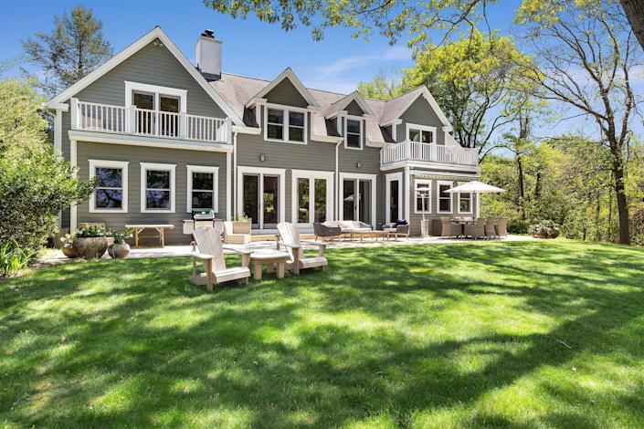 """<p>Hungarian journalist, author, and radio correspondent Kati Marton is selling the two-story Southampton waterfront home that she bought with her late husband, diplomat Richard C. Holbrooke, in 2005. Though Marton's primary residence is in Manhattan, the Hamptons beach house served as a longtime weekend escape complete with nearly 130 feet of frontage, a sizable heated pool, and a French doors–enclosed deck.</p> <p>Marton's time at her two-acre sanctuary wasn't always spent leisurely swimming laps in the 38-by-15-foot pool, sipping tea in front of the wood-burning fireplace, and padding through the two-deck primary suite, though; she wrote three of her books there, including her latest, a biography of the German chancellor Angela Merkel that's set to hit stands in October.</p> <p>Price: $4.2 million</p> <p>Beds/Baths: 3 bedrooms, 2 full baths, 1 half bath</p> <p>Square Footage: 3,400 square feet</p> <p>For more information, please click <a href=""""https://www.sothebysrealty.com/eng/sales/detail/180-l-1183-32dkp8/203-207-noyac-road-southampton-ny-11968"""" rel=""""nofollow noopener"""" target=""""_blank"""" data-ylk=""""slk:here"""" class=""""link rapid-noclick-resp"""">here</a>.</p>"""