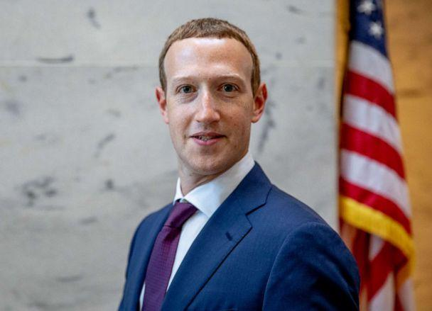 PHOTO: Facebook founder and CEO Mark Zuckerberg leaves a meeting with Senator John Cornyn in his office on Capitol Hill on Sept. 19, 2019, in Washington, D.C. (Samuel Corum/Getty Images, FILE)