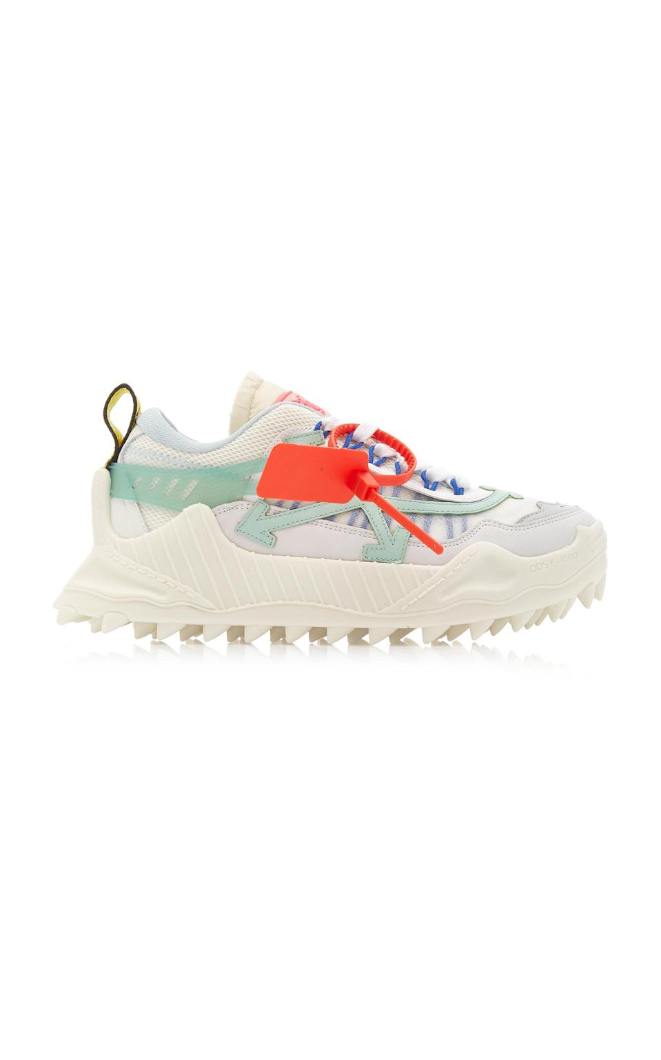 """<p><strong>Off-White c/o Virgil Abloh</strong></p><p>modaoperandi.com</p><p><strong>$590.00</strong></p><p><a href=""""https://go.redirectingat.com?id=74968X1596630&url=https%3A%2F%2Fwww.modaoperandi.com%2Foff-white-r20%2Fodsy-1000-low-top-suede-and-mesh-sneakers&sref=https%3A%2F%2Fwww.harpersbazaar.com%2Ffashion%2Ftrends%2Fg31749966%2Fsummer-2020-shoe-trends%2F"""" rel=""""nofollow noopener"""" target=""""_blank"""" data-ylk=""""slk:Shop Now"""" class=""""link rapid-noclick-resp"""">Shop Now</a></p><p>Prove your streetwear prowess with a pair from Off-White.</p>"""