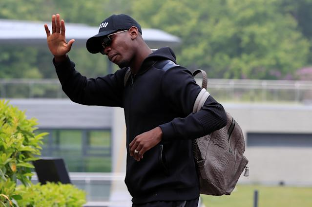 Soccer Football - FIFA World Cup - France Training - Domaine de Montjoye, Clairefontaine, France - May 23, 2018 France's Paul Pogba arrives REUTERS/Gonzalo Fuentes