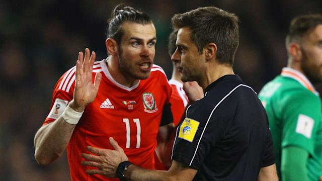 Wales' World Cup qualification hopes suffered a blow after Gareth Bale earned a suspension for their next Group D match.
