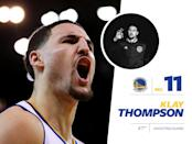 """<p>Warriors' player Klay Thompson has a reserved style. Though he's often in Nike-decked athleisure, the dude can also pull off a <a href=""""https://www.instagram.com/p/zIx3TyCxCx/?taken-by=klaythompson&hl=en"""" rel=""""nofollow noopener"""" target=""""_blank"""" data-ylk=""""slk:three-piece suit unlike any other baller"""" class=""""link rapid-noclick-resp"""">three-piece suit unlike any other baller</a>. Oh, he also has a really, really cute <a href=""""https://www.instagram.com/p/0lztJRixIJ/?taken-by=klaythompson&hl=en"""" rel=""""nofollow noopener"""" target=""""_blank"""" data-ylk=""""slk:Bulldog named Rocco"""" class=""""link rapid-noclick-resp"""">Bulldog named Rocco</a>. <i>Photo: Getty Images / Instagram.com</i></p>"""